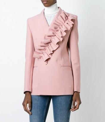 Нежно-розовый пиджак MSGM с крупным рюшем