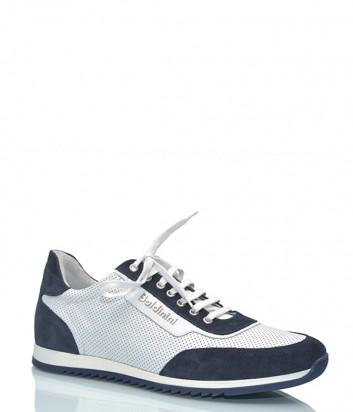 Мужские кроссовки Baldinini 696409 комбинированные сине-белые