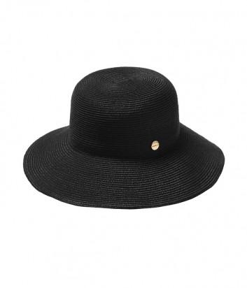 Классическая шляпа Seafolly 71367-HT с брендированной кнопкой черная