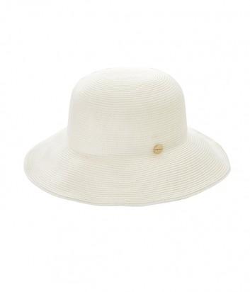 Классическая шляпа Seafolly 71367-HT с брендированной кнопкой белая