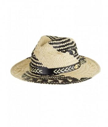 Классическая шляпа Seafolly 71264-HT черно-бежевая
