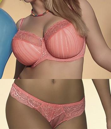 Комплект Kris Line Big Size Princessa полумягкий бюст и шорто-стринги