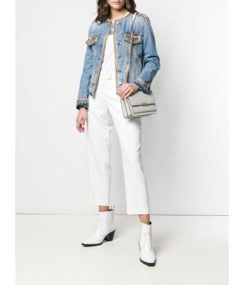 Кожаная сумка Michael Kors Jade Large с откидным клапаном белая