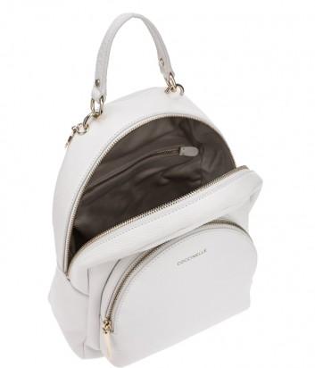 Рюкзак Coccinelle Alpha в зернистой коже белый