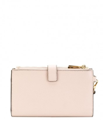 Кожаное портмоне Michael Kors Adele с ремешком на запястье нежно-розовое