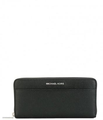 Кожаное портмоне Michael Kors Mercer на молнии черное