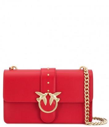 Сумка на цепочке PINKO Love Bag 1P21AYY в гладкой коже красная