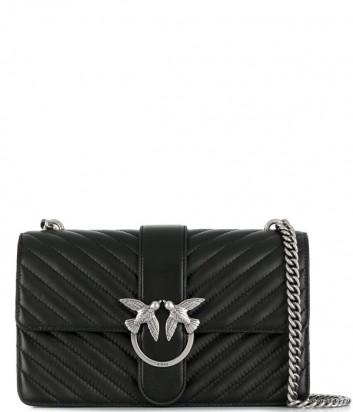 Большая сумка PINKO Love Bag Mix 1P21HGY в стеганной коже наппа черная