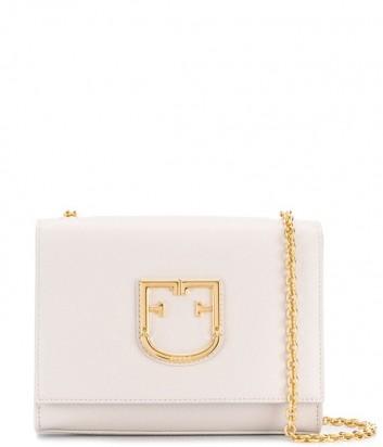 Маленькая сумочка Furla Viva 1021380 в мелкозернистой коже бежевая