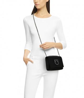Маленькая сумочка Furla Viva 1021325 в зернистой коже черная