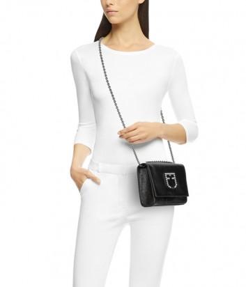Маленькая сумочка Furla Viva 1021356 в глянцевой коже черная