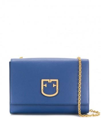 Сумочка на цепочке Furla Viva 1021367 в мелкозернистой коже синяя