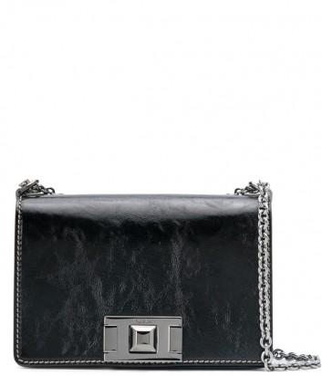 Сумочка на цепочке Furla Mimi Mini 1021932 в гладкой коже черная