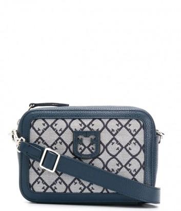 Компактная жаккардовая сумка Furla Brava 1021611 синяя