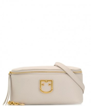 Поясная сумка Furla Isola 1021941 в зернистой коже кремовая