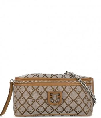 Поясная сумка Furla Isola 1021675 в жаккардовой ткани рыжая