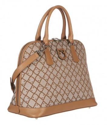 Большая жаккардовая сумка Furla Fantastica 1023618 рыжая
