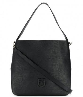 Сумка-хобо Furla Dea 1021579 в крупнозернистой коже черная