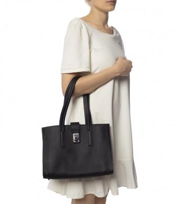 Деловая сумка Furla Idea 1021432 в крупнозернистой коже черная