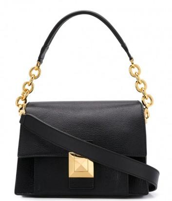 Кожаная сумка Furla Diva 1021341 с откидным клапаном черная