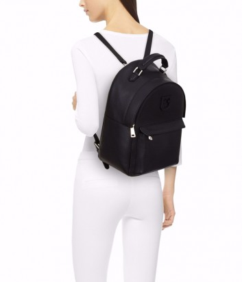 Кожаный рюкзак Furla Favola S 1021959 с внешним карманом черный
