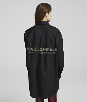 Платье-рубашка Karl Lagerfeld 96KW1604 с надписями на спине