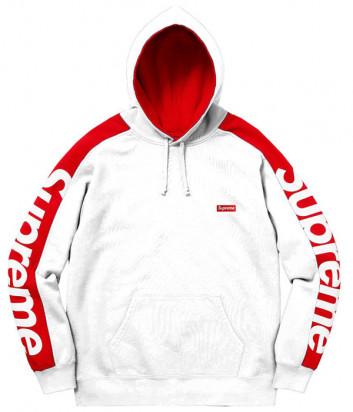 Белое худи с капюшоном Supreme SFU16 модель унисекс
