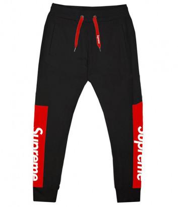 Черные спортивные штаны Supreme SPU203 модель унисекс
