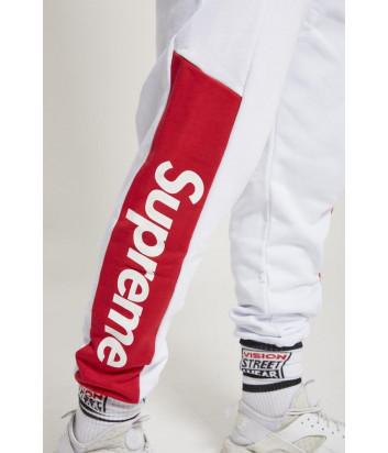 Белые спортивные штаны Supreme SPU203 модель унисекс