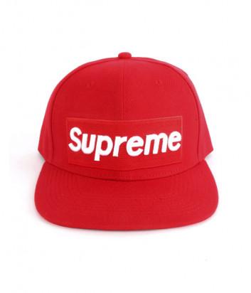 Красная кепка Supreme SKCP01 с логотипом