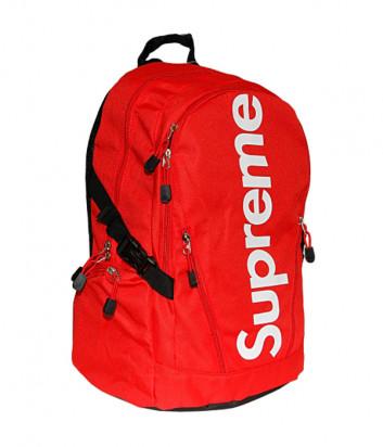 Красный рюкзак Supreme 1002 с белым логотипом