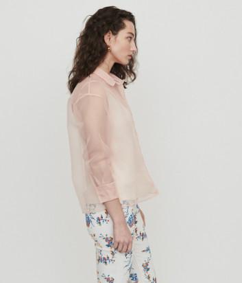 Полупрозрачная блуза Maje E19CLOANE цвета пудры