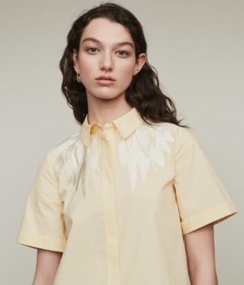 Желтая рубашка Maje E19CIVERS с вышивкой