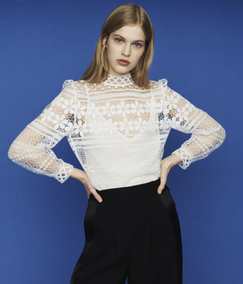 Кружевная блуза Maje E19LOROPI белая