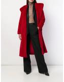 Искусственная шуба P.A.R.O.S.H. Perfecto 430739 с капюшоном красная