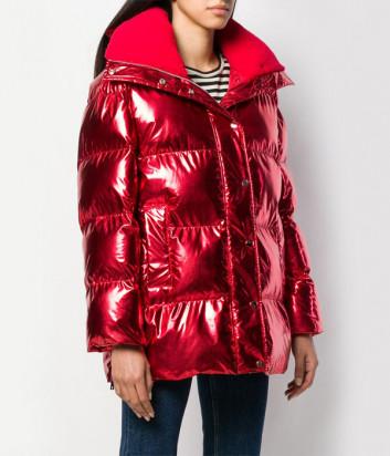 Блестящая красная куртка P.A.R.O.S.H. Proud 490523 с капюшоном