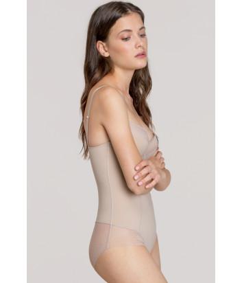 Формирующее боди Gisela Perfect Fit 10349 декорировано кружевом телесное