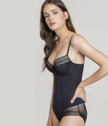 Формирующее боди Gisela Perfect Fit 10349 декорировано кружевом черное