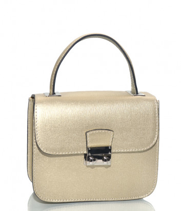 Кожаная сумка на цепочке Leather Country 2591 золотая