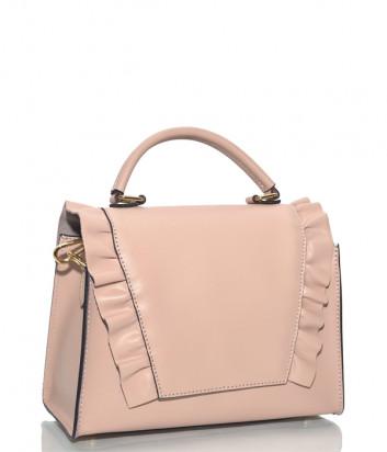 Сумочка с рюшами Leather Country 3292 в гладкой коже розовая