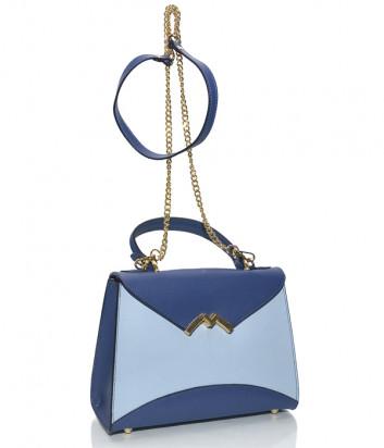 Кожаная сумочка на цепочке Leather Country 3392 сине-голубая