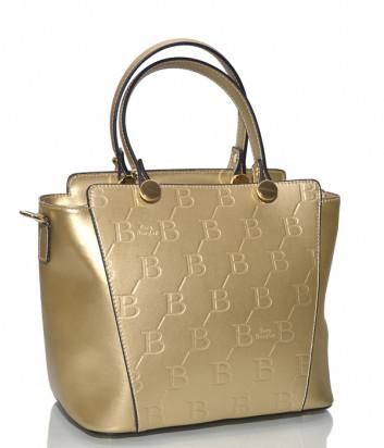 Золотая сумка Sara Burglar 1527 в гладкой коже с тиснением