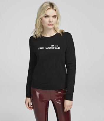 Черный свитшот Karl Lagerfeld 96KW1824 с надписью