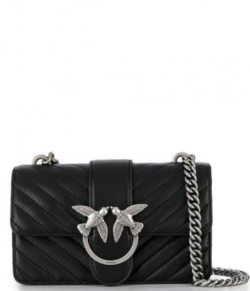 Маленькая сумка PINKO Love Bag Mix 1P21K0Y в стеганной коже наппа черная