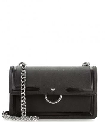 Сумка на цепочке PINKO Love Bag 1P21A6 в зернистой коже черная