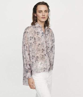 Лиловая блуза Maje E19CALYSEA с цветочным принтом