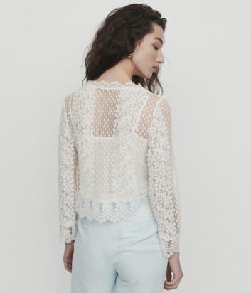 Кружевная блуза Maje E19LEVANTA белая