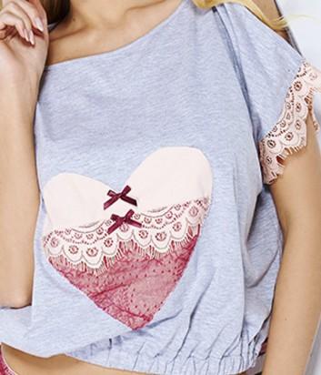 Комплект Pigeon 445 футболка и трусики декорированы кружевом
