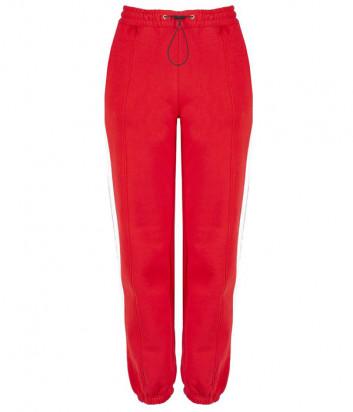 Спортивные штаны MSGM 2741MDP красные с лампасами
