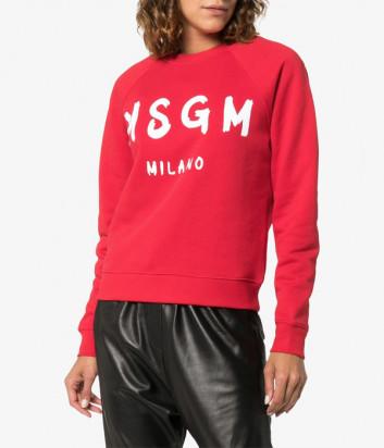 Женская толстовка MSGM 2641MDM с логотипом красная